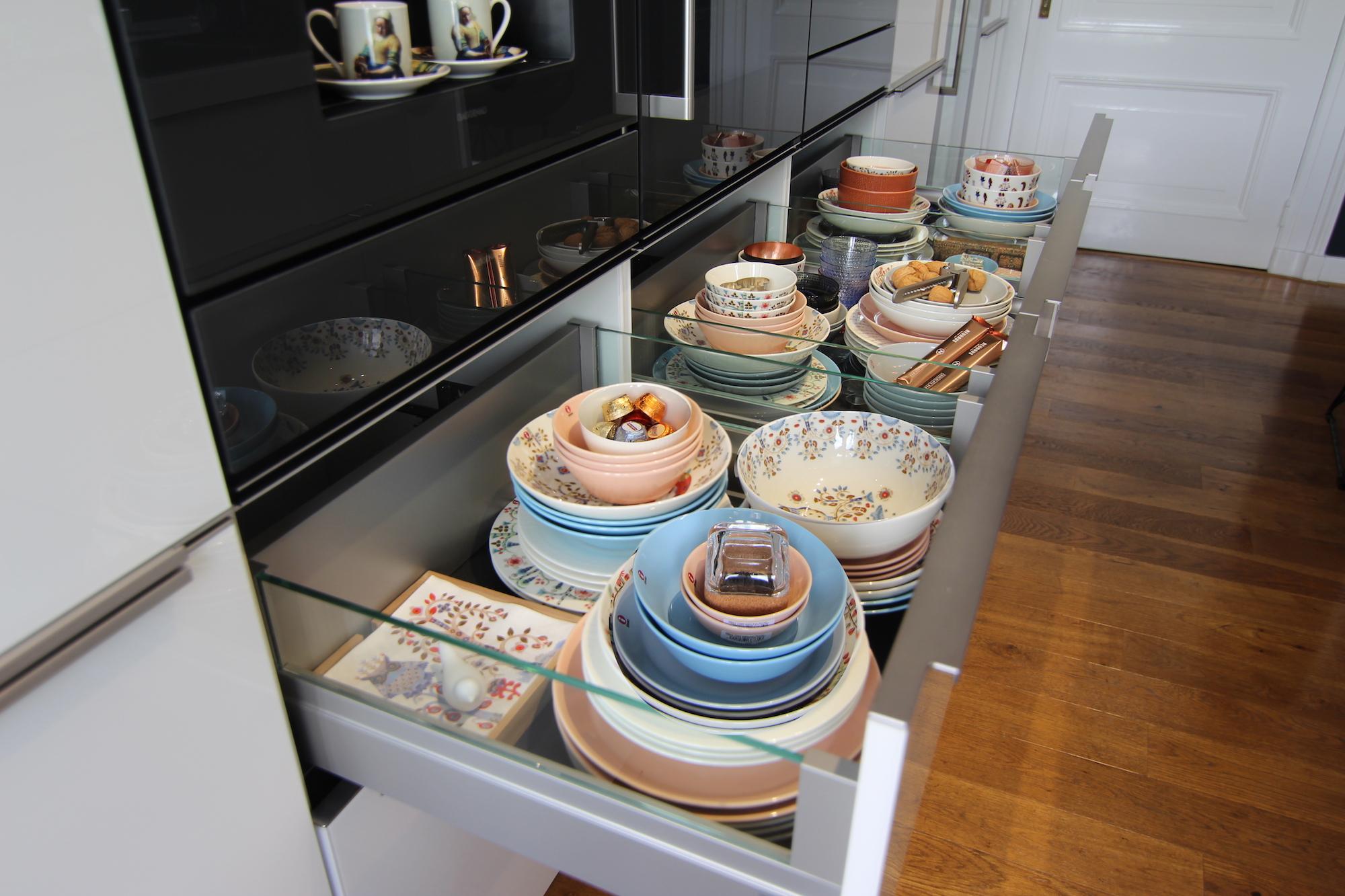 Gaggenau Glass Bird foto servies onder ovens