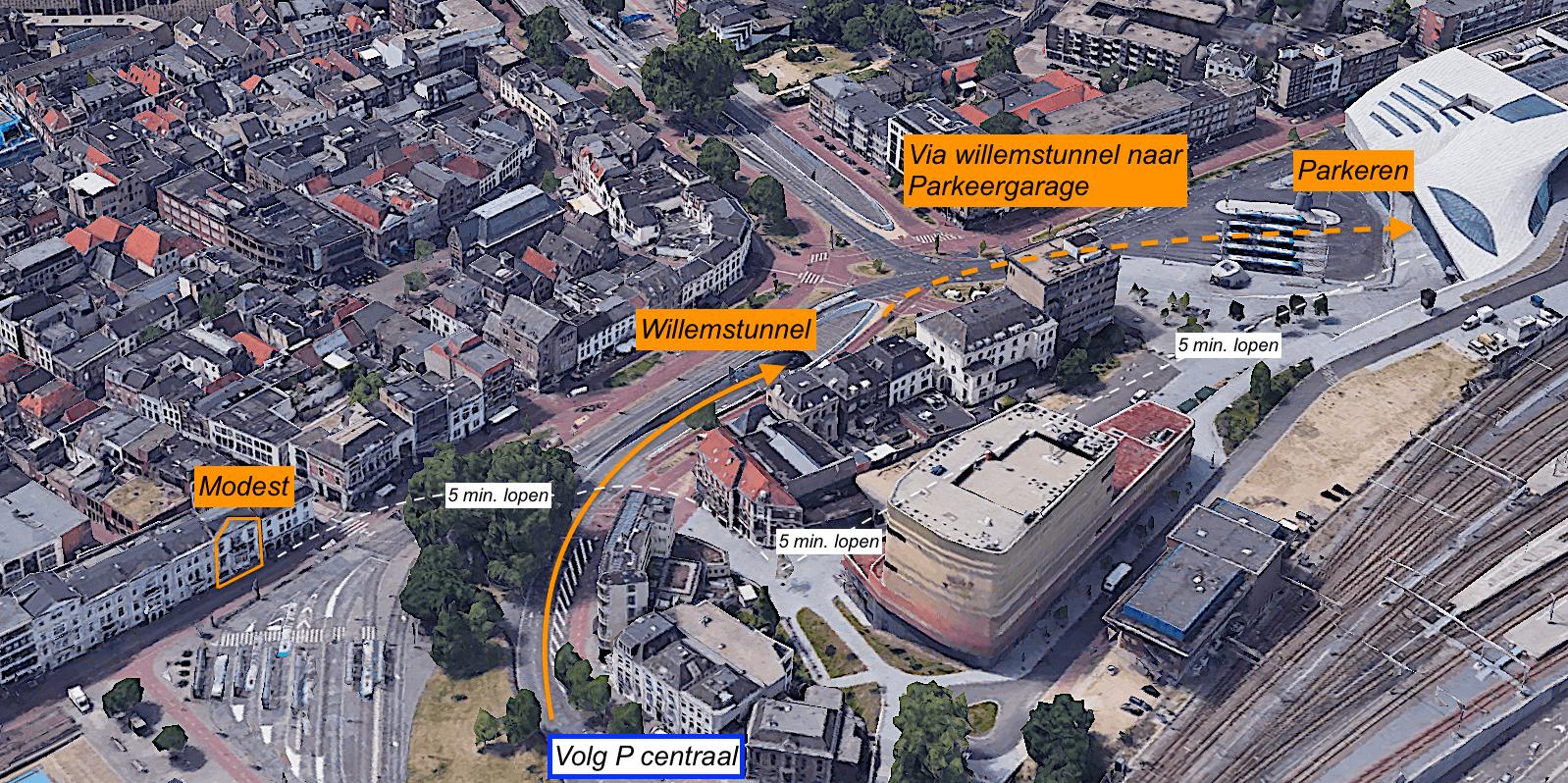 Kaart van Willemsplein